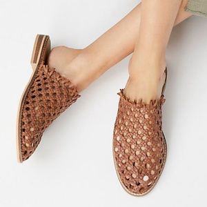 NEW Free People Mirage Woven Leather Mule Shoe